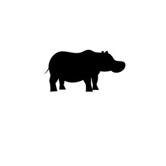 Icon bright hippo vector