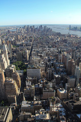 New York: Financial district on Manhattan island