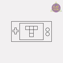 Game joystick line icon