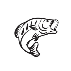 fish animal vector outline