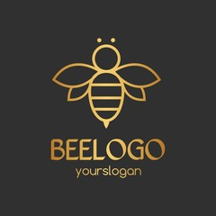 Simple And Unique Bee Logo For Company, Corporate And Business. Vector Isolated