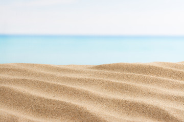 sea and sand on the beach, summer background
