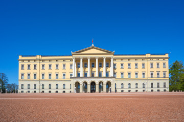 Oslo The Royal Palace landmark in Oslo city, Norway