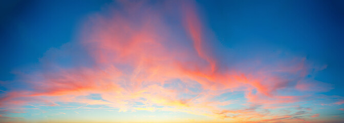 Wall Mural - Color only sky with red and orange clouds