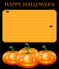 Paper template with halloween theme