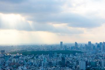 東京 風景 曇り
