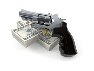 Gun with money