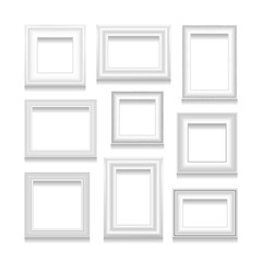 Vector set of picture frames.