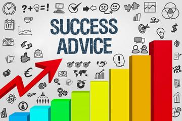 Success Advice / Diagramm mit Symbole