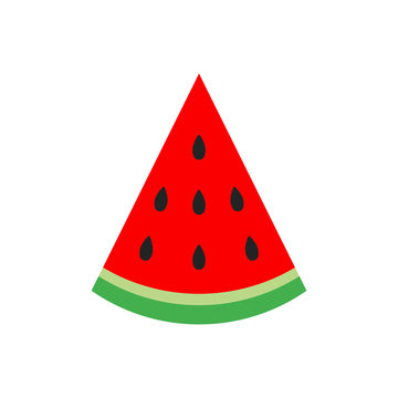 Watermelon sign vector icon. Ripe fruit illustration. Business concept simple flat pictogram on white background.