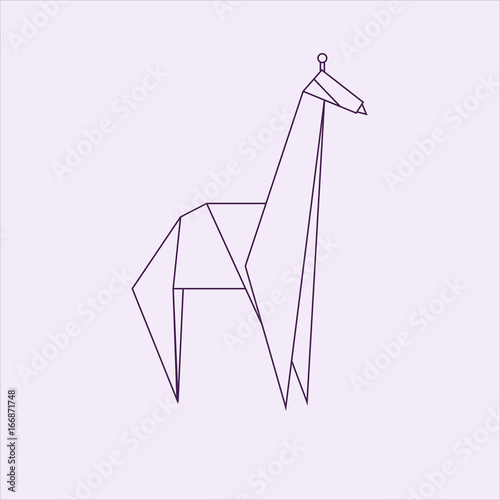 Origami Giraffe Stock Image And Royalty Free Vector Files On