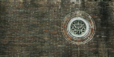 detail  circular window ,chinese  temple.