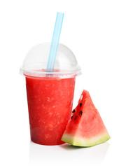 Red watermelon smoothie