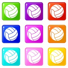 Black volleyball ball set 9