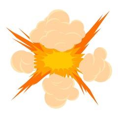 Bomb explosion icon, cartoon style