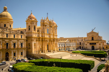 17th century Baroque town of Noto on the east coast of Sicily.