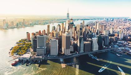 Aerial view of lower Manhattan NYC Fototapete