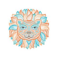 illustration. Lion.