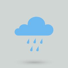blue cloud rain icon