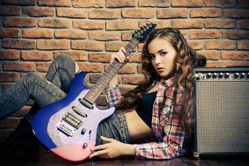 rock and girl