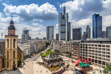 Looking across the Hauptwache district in Frankfurt am Main Fototapete