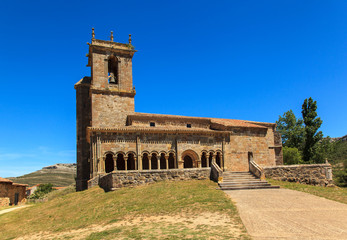 Romanesque church. Rebolledo de la Torre, Palencia. Spain