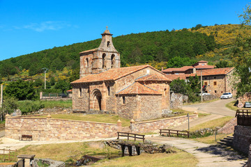 Romanesque church. Salcedillo, Palencia. Spain