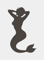 Silhouette of a mermaid