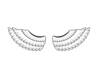 Wings. Vector illustration on white background