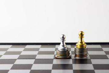 Money chess game business ,the strategy investment with your money