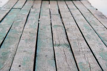 wooden platform. photo
