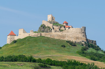 Medieval fortress in the town of Rupea, Romania Fototapete