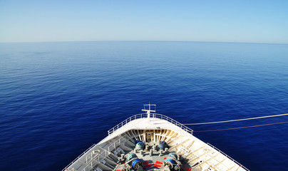 the view from the ship, cruise liner