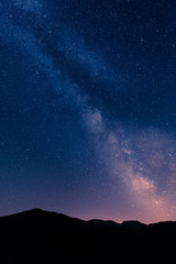 Milky Way over mountains of corse, france