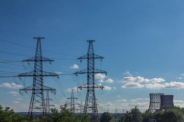 Power line landscape.
