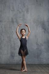 Ballerina girl posing in dance studio
