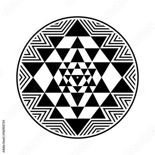 Sri Yantra vector symbol