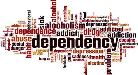 Dependency word cloud