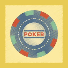 flat shading style icon poker chips