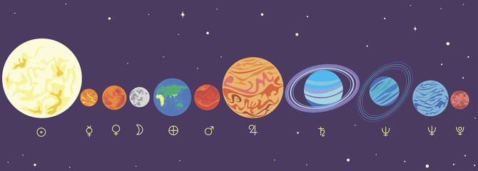 Planets solar system in order
