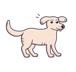 Cartoon dog isolated.