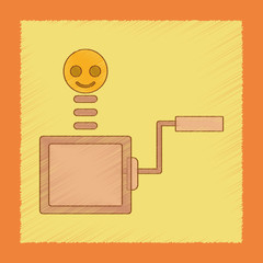 flat shading style icon Kids box