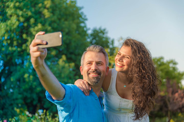 Selfie taking couple