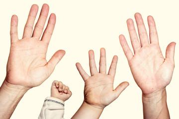 Familie, Hände