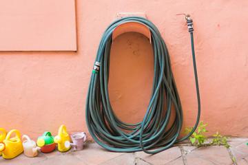 garden hose outdoors