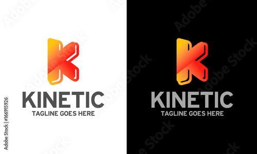 kinetic logo logo design letter k letter alphabet logo design template