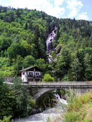 Scenic waterfall, Italy, Val d'Oasta