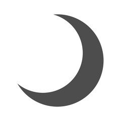 Dark Half Moon Icon Isolated - Crescent, Night, Sky
