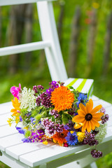Kunterbunter Blumenstrauß