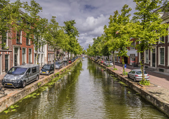 Beautiful city of Delft with amazing canals. Very historical city